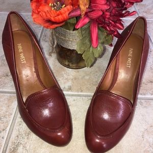 Brick Brown Nine West Block Heels Size 8.5